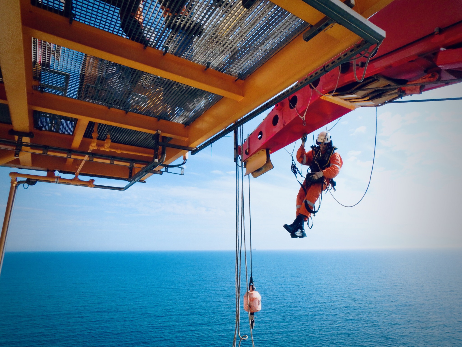 Offshore rope access ND testing